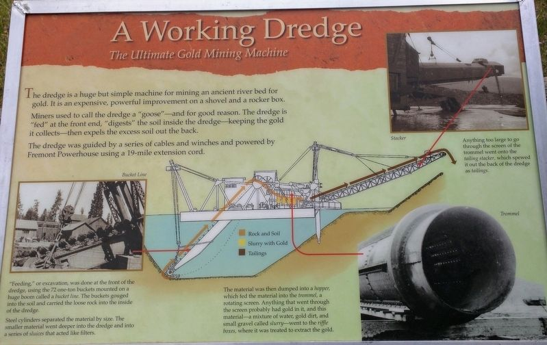 A Working Dredge- The Ultimate Gold Mining Machine Marker image. Click for full size.