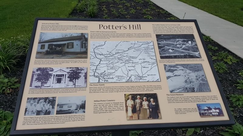 Potter's Hill Marker image. Click for full size.