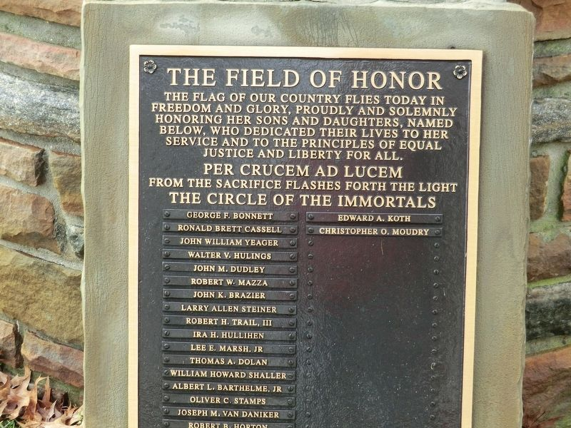 Field of Honor Marker image. Click for full size.