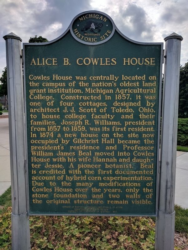 Alice B. Cowles House Marker - Side 2 image. Click for full size.