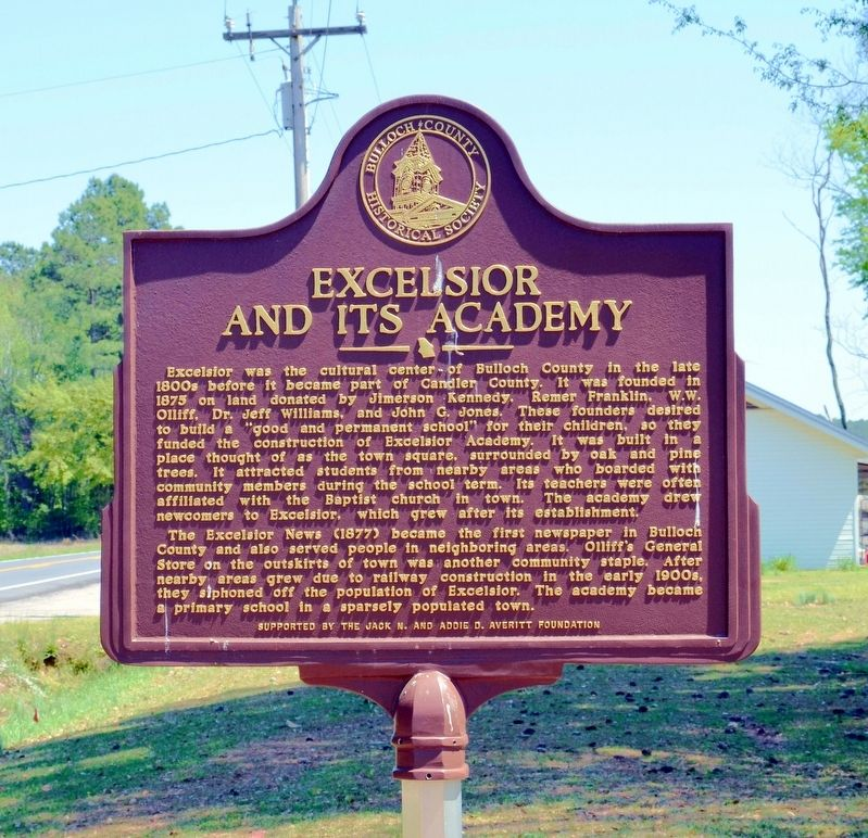 Excelsior and its Academy Marker image. Click for full size.