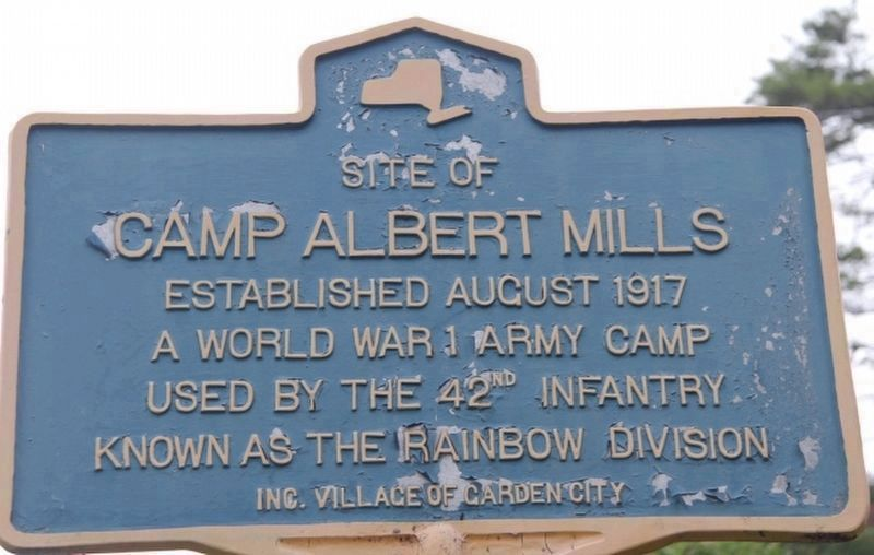 Camp Albert Mills Marker image. Click for full size.