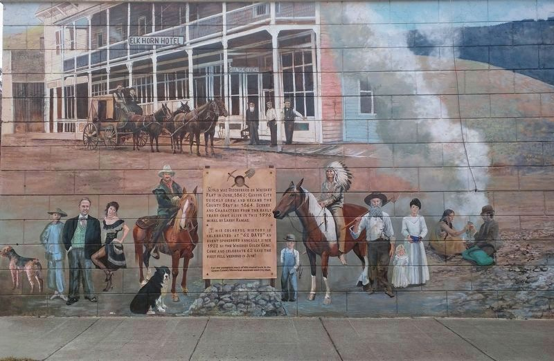 Canyon City Mural Marker image. Click for full size.