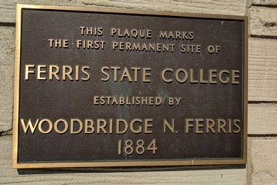 Ferris State College Marker image. Click for full size.