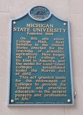 Michigan State University Marker image. Click for full size.