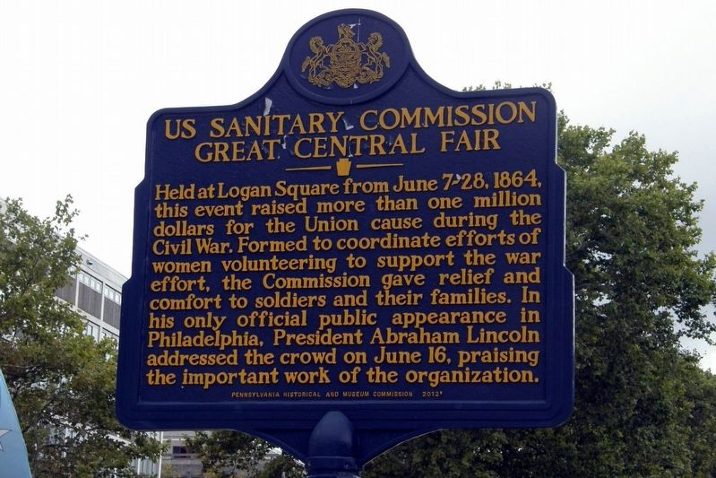 US Sanitary Commission Great Central Fair Marker image. Click for full size.