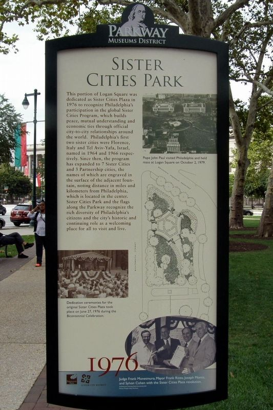 Sister Cities Park Marker image. Click for full size.