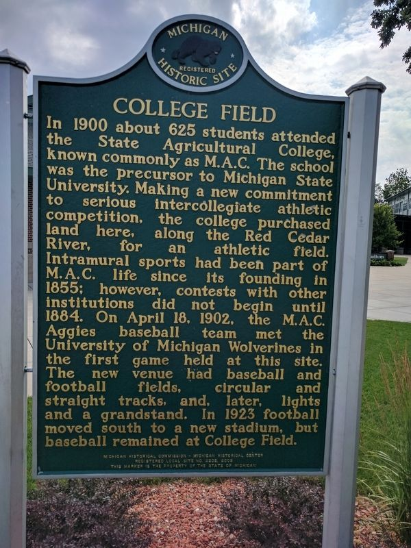 College Field Marker - Side 1 image. Click for full size.