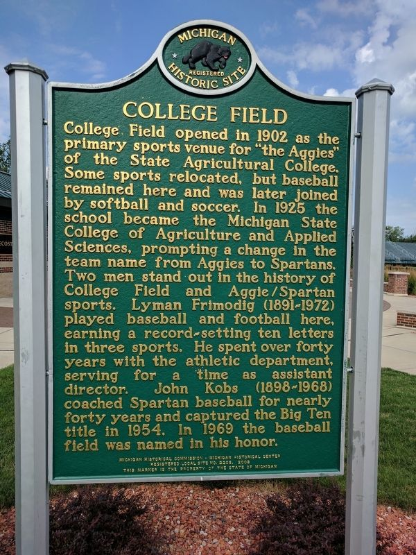 College Field Marker - Side 2 image. Click for full size.