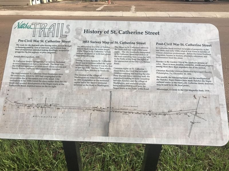 History of St. Catherine Street Marker image. Click for full size.