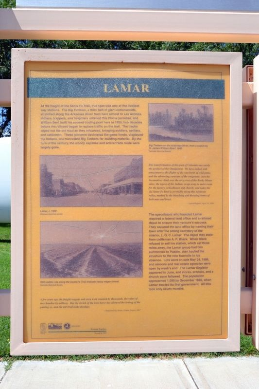 Welcome to Colorado - Lamar Country Marker image. Click for full size.