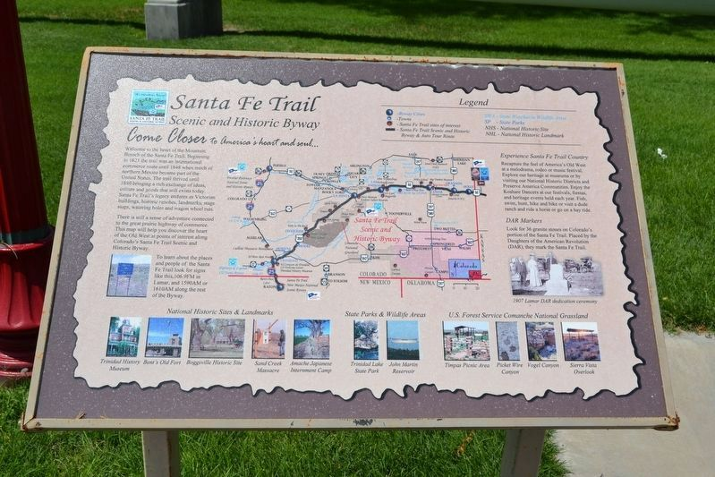 Santa Fe Trail Scenic and Historic Byway image. Click for full size.