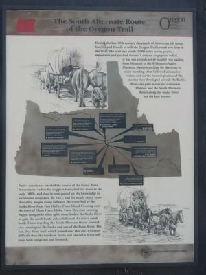 The South Alternate Route of the Oregon Trail Marker image. Click for full size.