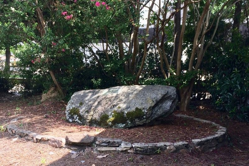 The Auburn Guards Marker on top of large rock. image. Click for full size.