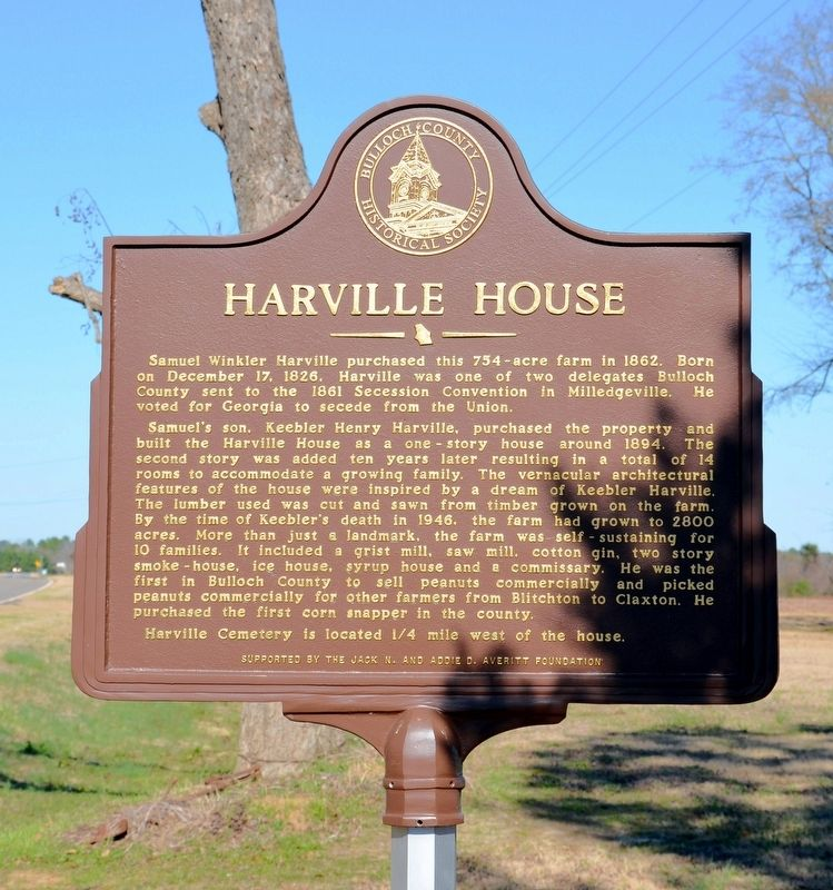 Harville House Marker image. Click for full size.
