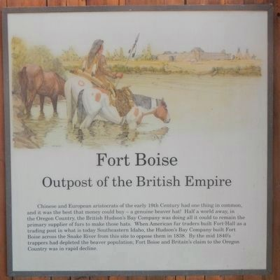 Fort Boise, Outpost of the British Empire image. Click for full size.