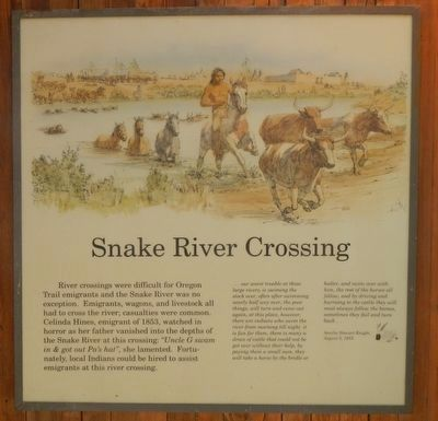 Snake River Crossing image. Click for full size.