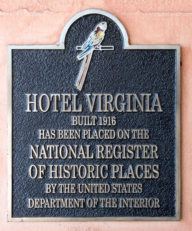 Hotel Virginia NRHP Marker image. Click for full size.