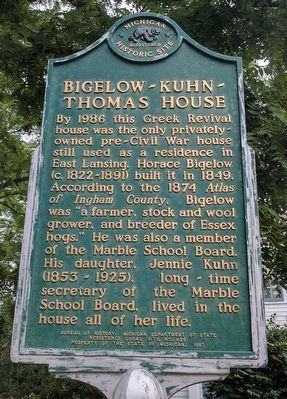 Bigelow-Kuhn-Thomas House Marker image. Click for full size.
