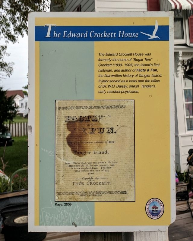 The Edward Crockett House Marker image. Click for full size.