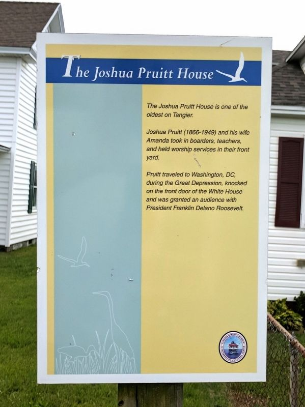 The Joshua Pruitt House Marker image. Click for full size.