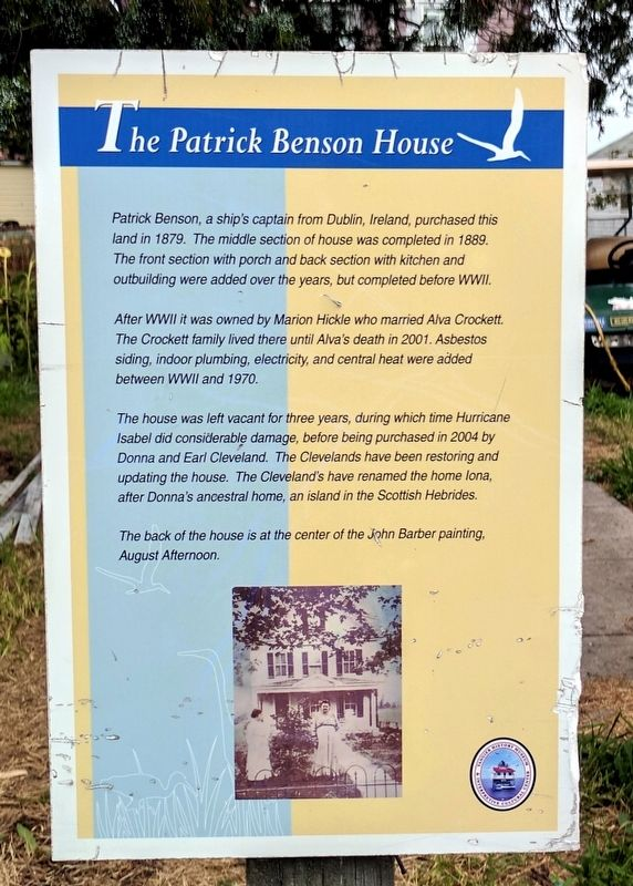 The Patrick Benson House Marker image. Click for full size.