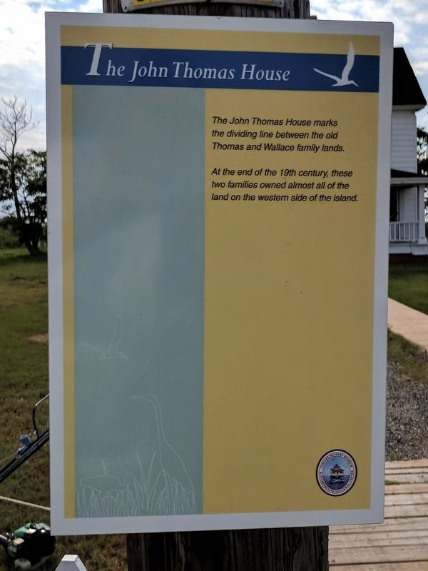 The John Thomas House Marker image. Click for full size.