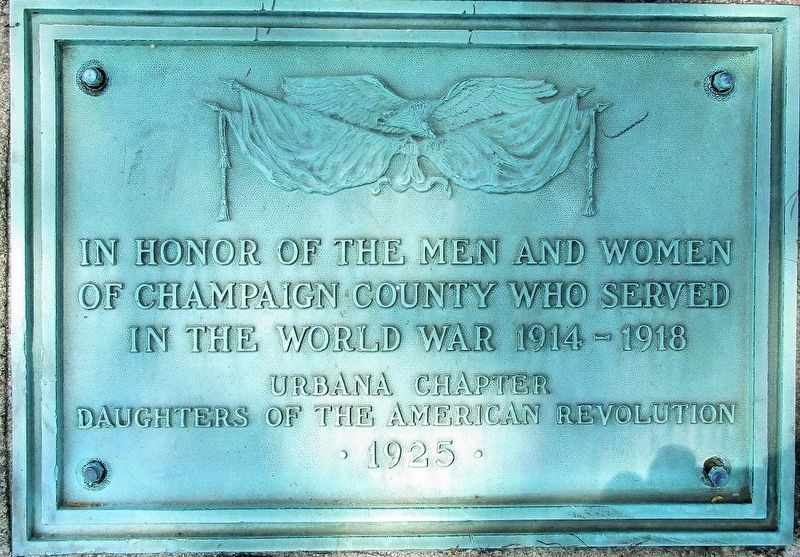 Champaign County World War I Memorial Marker image. Click for full size.
