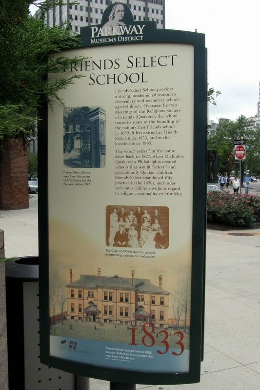 Friends Select School Marker image. Click for full size.