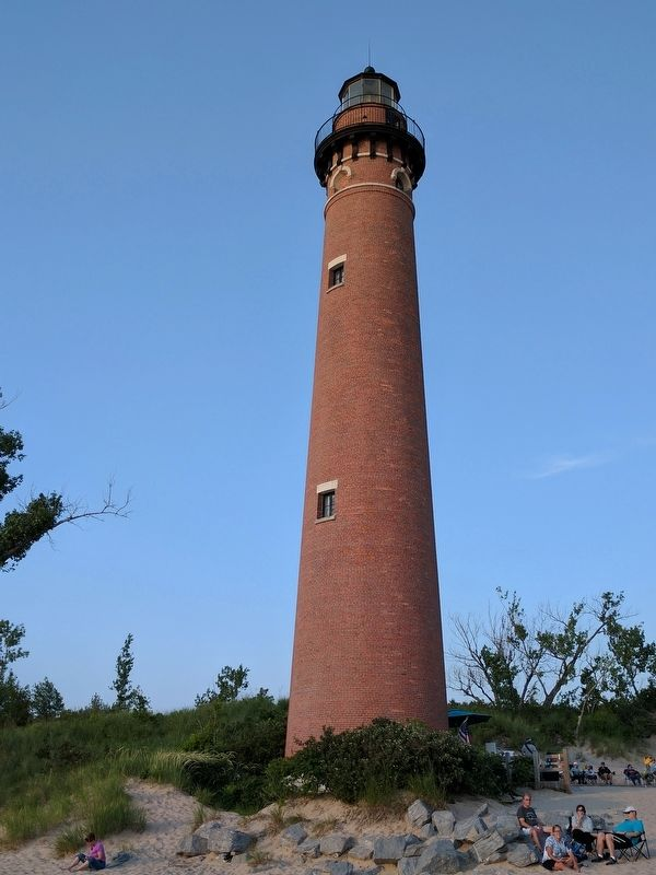 Petite Pointe Au Sable Lighthouse Marker image. Click for full size.