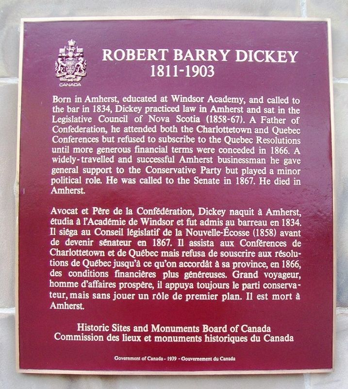 Robert Barry Dickey Marker image. Click for full size.
