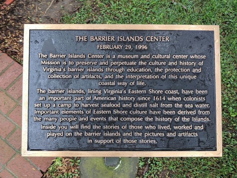 The Barrier Islands Center Marker image. Click for full size.