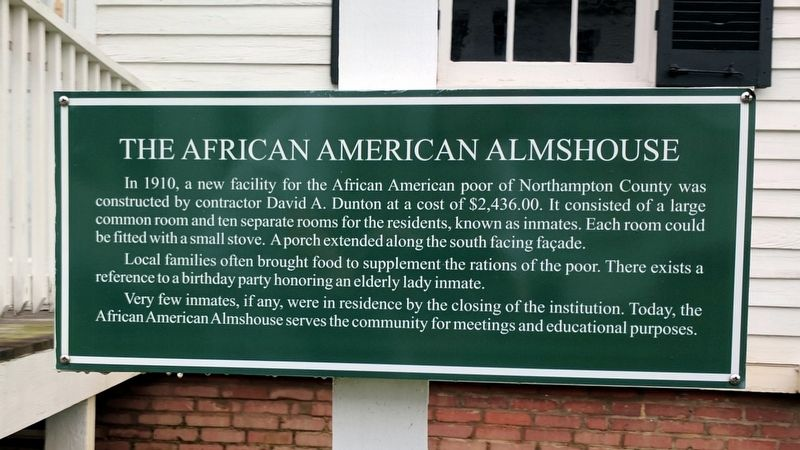The African American Almshouse Marker image. Click for full size.