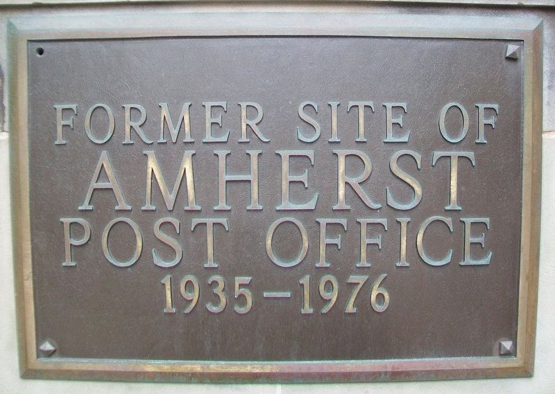 Former Site of Amherst Post Office Marker image. Click for full size.