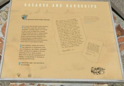 Hazards and Hardships Marker image. Click for full size.
