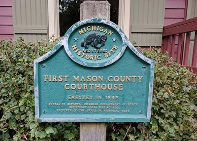 First Mason County Courthouse Marker image. Click for full size.