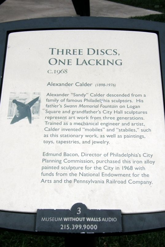Three Disks, One Lacking Marker image. Click for full size.