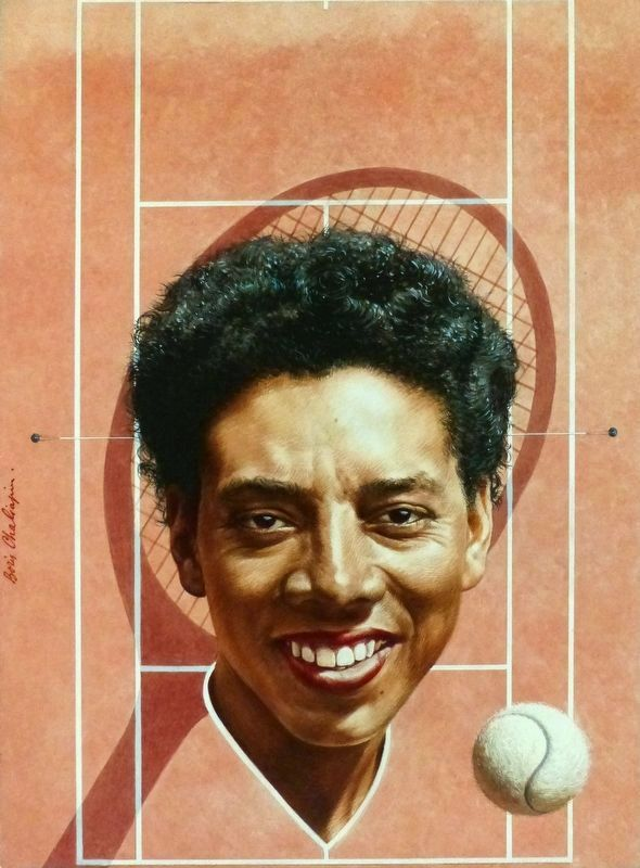 Althea Gibson image. Click for full size.