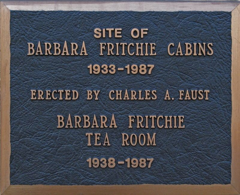 Barbara Fritchie Cabins & Tea Room Marker image. Click for full size.