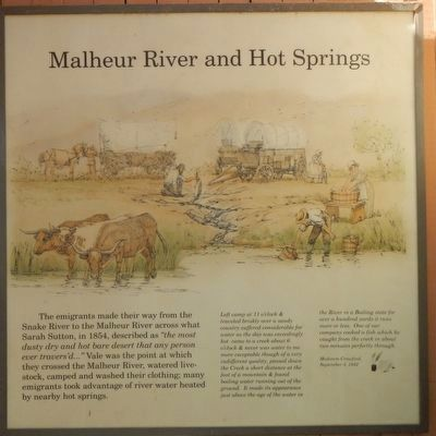 Malheur River and Hot Springs Marker image. Click for full size.