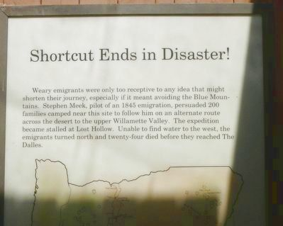 Shortcut Ends in Disaster! Marker (detail) image. Click for full size.