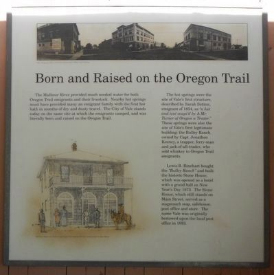 <b>Born and Raised on the Oregon Trail Marker image. Click for full size.