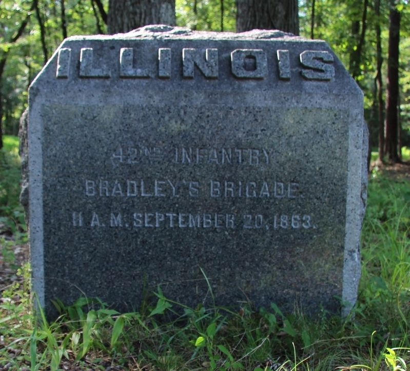 42nd Illinois Infantry Marker image. Click for full size.