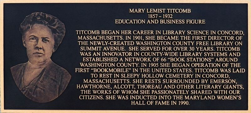 Mary Lemist Titcomb Marker image. Click for full size.