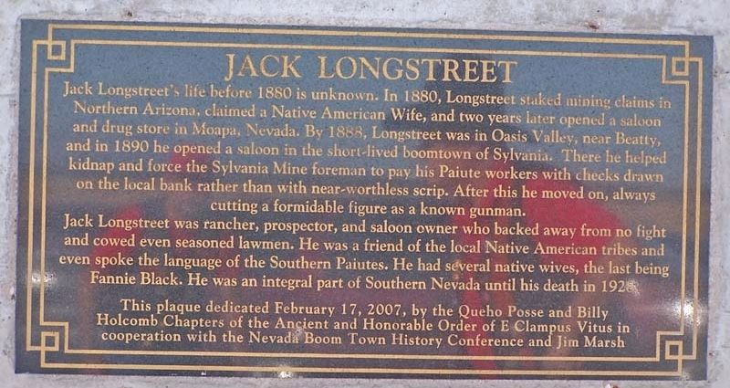 Jack Longstreet Marker image. Click for full size.