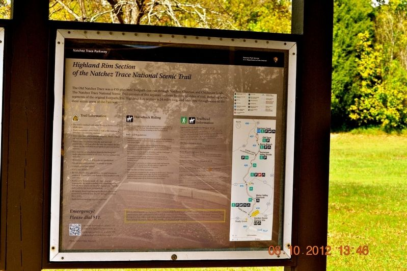 Highland Rim Section Marker image. Click for full size.