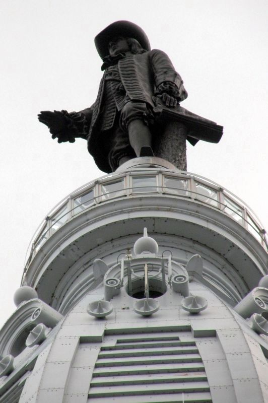 """William Penn""as seen from the street. image. Click for full size."