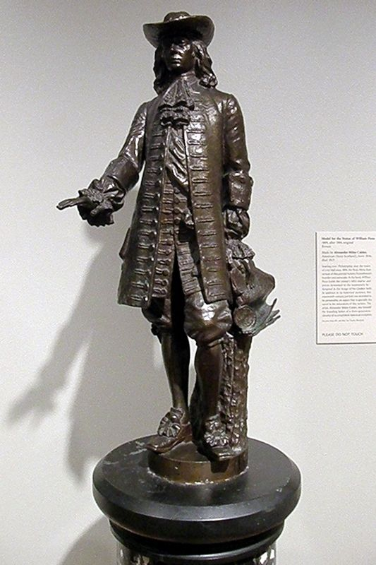"""Model for the Statue of William Penn"" at the Philadelphia Museum of Art image. Click for full size."