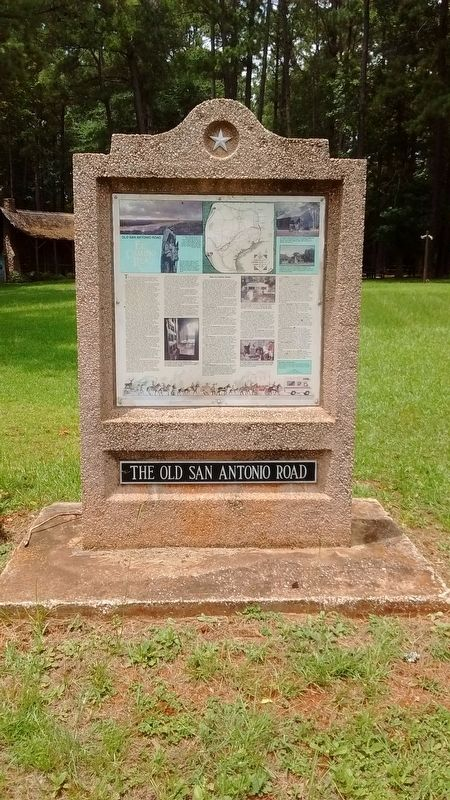 The Old San Antonio Road Marker image. Click for full size.