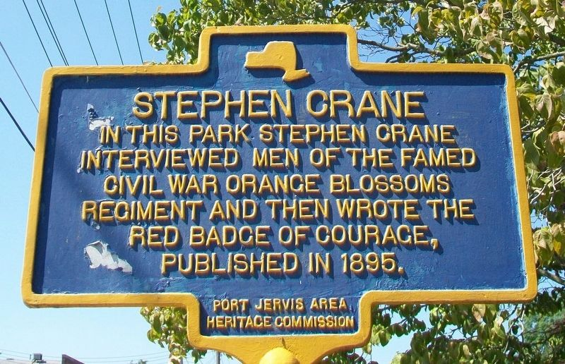 Stephen Crane Marker image. Click for full size.